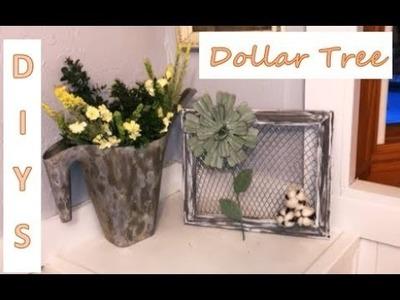 DOLLAR TREE FARMHOUSE SPRING DECOR DIYS | Jessica Sunshine Collab!