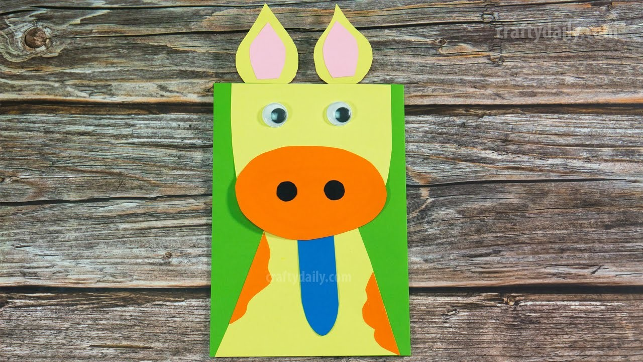 Easy PAPER COW CRAFT | Farm Animal Craft Ideas | Craft for Kids