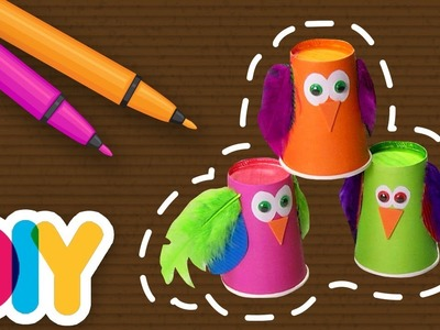 Fast-n-Easy | Colorful Owls ???? Paper Cup Craft | DIY Arts & Crafts for Kids