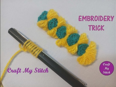Hand Embroidery - Embroidery trick with Pencil by Craft My Stitch