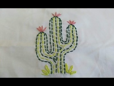 How to make | Charming | Cactus | Embroidery
