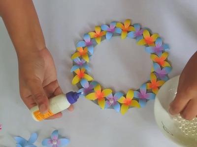How to make craft paper hunger wallmet???????? | kagojer ful banano???????? | কাগজের ওয়াল্লমেট বানানো ????????