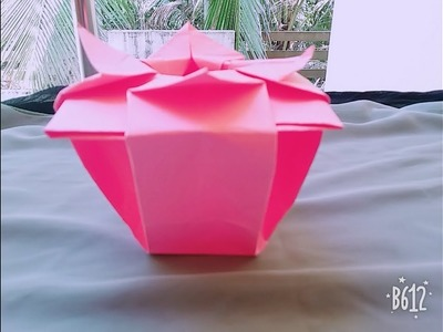 How to Make Origami Chinese Flower Vase.Kr art and craft