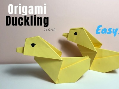 How to Make Origami Duckling Paper - Origami for Kids - Creative Ideas - Craft - DIY