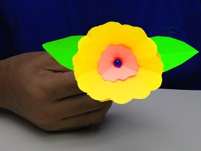 HOW TO MAKE PAPER ROSE FLOWER (VERY EASY) | COLOR PAPER CRAFT IDEAS | MY CRAFTS