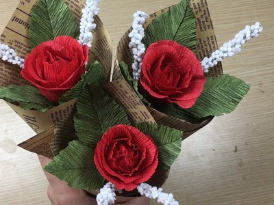 How to Make Paper Rose Flower - Easy! Craft Ideas