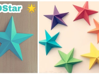 How To Make Simple And Easy 3D Star | DIY | Paper Craft