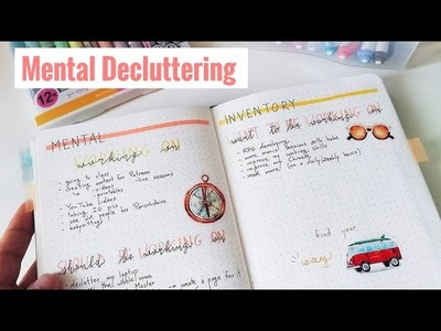 Mental Decluttering & Stress Relief | 3 Bullet Journal Spreads | The Boosted Journal
