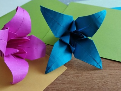 Origami flower  | | origami Lily  | | Paper craft Tutorial