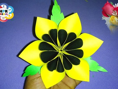 #Paper Craft Idea's | Easy Way of Paper Flower Making Video By HPR Media