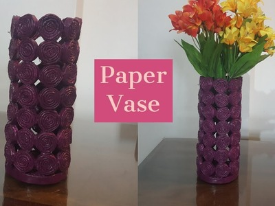 Paper Vase || Paper Crafts || Crafts Idea || Craft Ideas || Vase making at home