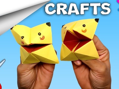 Pikachu Paper Craft    DIY crafts   How to make minute crafts for kids   easy origami