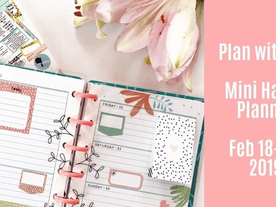 Plan with Me - Mini Happy Planner - Feb 18-24, 2019 - New Baby Girl sticker book!