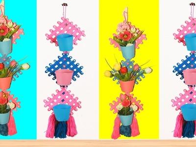 Wall Hanging Craft Ideas.Flower Vase Making   Ice Cream Stick Wall Hanging.Ice Cream Stick Craft