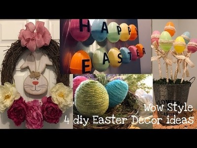 4 diy Easter decor ideas and how to make them