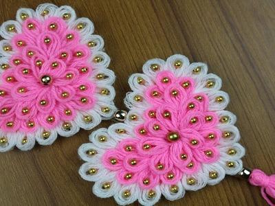 Amazing Woolen Heart Design - DIY Innovative Ideas of Woolen Crafts -Reuse ideas - Best out of waste