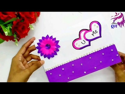 Birthday greeting card| How to make cards for birthday| Easy paper greeting card| Queen's home