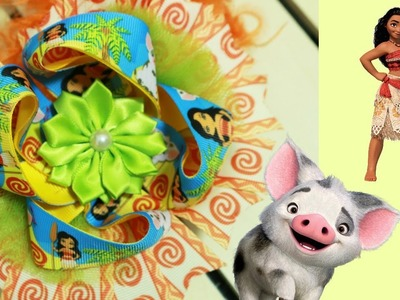 BOW DIY: How to make a Moana Stacked hair bow