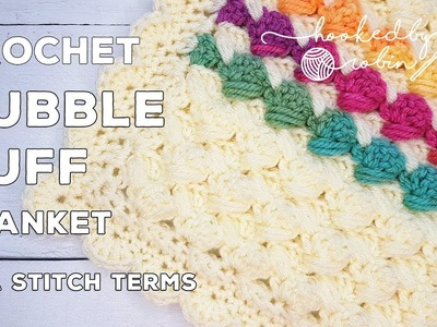 Bubble Puff Crochet Blanket | chunky yarn, fast growing & lots of texture!