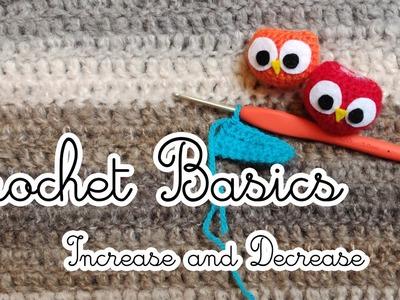 CROCHET BASICS - increase and decrease