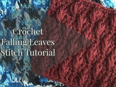 Crochet Falling Leaves Stitch Tutorial