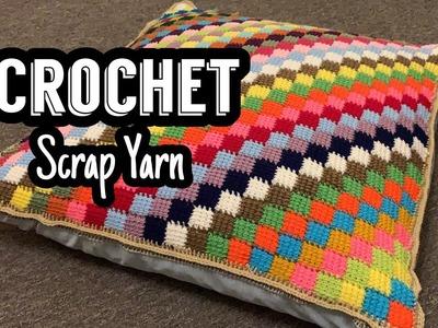 Crochet || Scrap Yarn || Tunisian