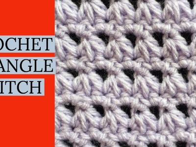 CROCHET TRIANGLE STITCH TUTORIAL~Beginner Stitch