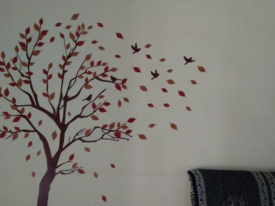 Decals Design -How to Apply Wall Stickers || REVIEW || Tricky to stick but Beautiful design