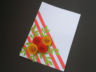 DIY: Birthday Card!! How to Make Handmade Paper Card for Greeting.Valentine day.Eid day.Wishing Card