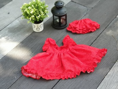DIY - Learn How to stitch Baby dress with frills- measurements included