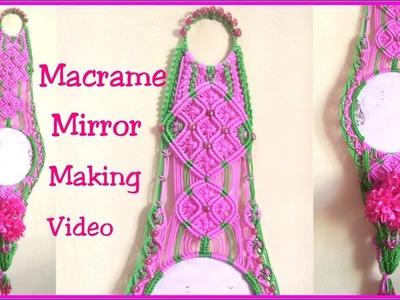 DIY Macrame Mirror making tutorial New design part -2.how to make Macrame Mirror