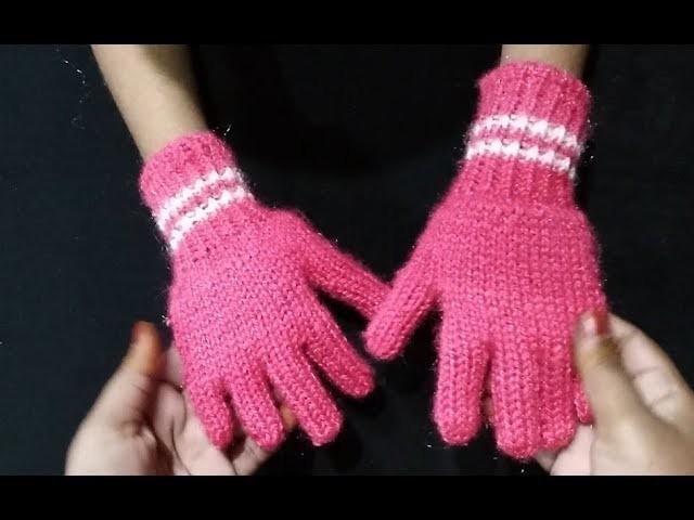 Easy Finger Gloves in Hindi. Dastana kaise banay, How To Make Baby Gloves