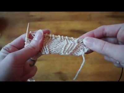 Fabels of Knitting - Tutorial, how to fix dropped stitches or mistakes further  down.