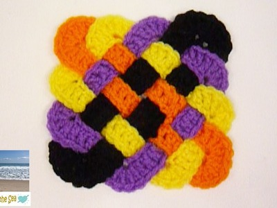 How To Crochet A Celtic Weave Cup Coaster | REVISED! | FREE pattern below