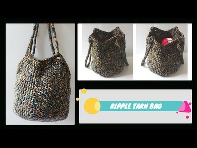 How to Crochet an Easy Ripple Yarn Bag