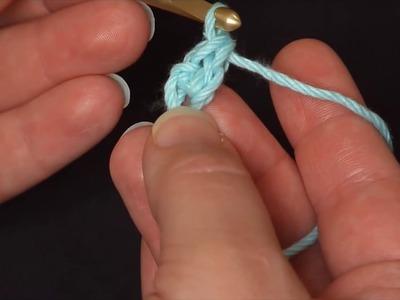 How to Crochet: Foundation Single Crochet (Left Handed)
