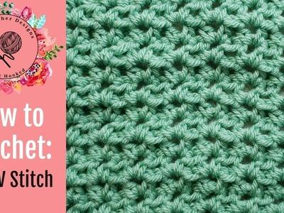 How to Crochet the Half Double Crochet (hdc) V Stitch | Crochet Tutorial