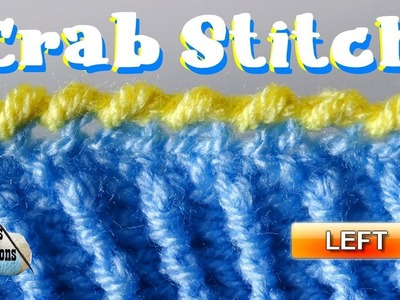 How to do the Crab Stitch in Crochet - Left Handed Crochet Tutorial