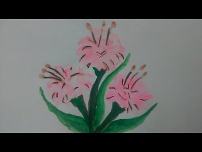 How to draw flower by water colour step by step
