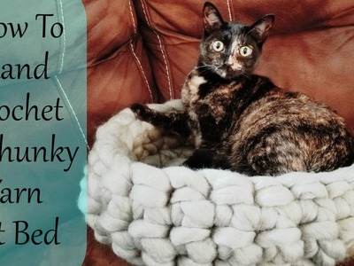 How To Hand Crochet A Chunky Yarn Pet Bed.Basket