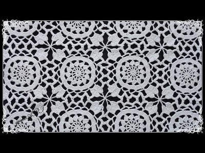 How to JOIN Crochet Lace Motif for Tablecloth or Pillowcase 2*