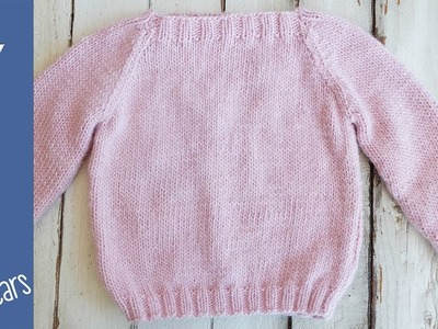 How to knit a Sweater for Children aged 2-4 years, step by step