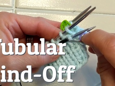 How To Knit a Tubular Bind-Off In The Round
