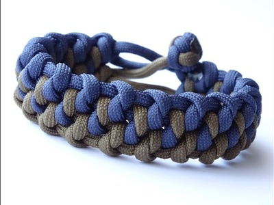 """How to Make a """"Diagonal Weave"""" Mad Max Style Snake Knot Paracord Survival Bracelet"""