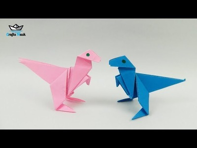 How to Make a Dinosaur with Colors Paper ll Origami Dinosaur ll DIY Paper Dinosaur