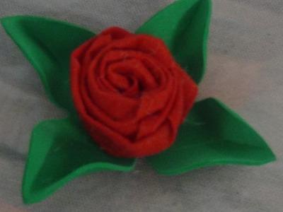 How to Make a Felt Rose - DIY