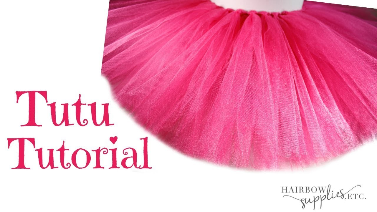 How to Make a No Sew Tutu - DIY Fluffy Tutu Skirt with Tulle Tutorial - Hairbow Supplies, Etc.