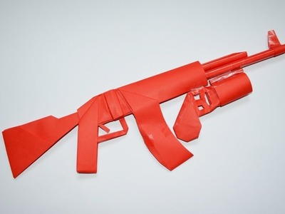 How to make a paper AK 47 with grenade launcher