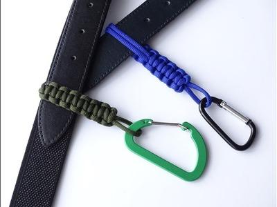 How to Make a Simple Paracord Belt Key. Bottle Holder-Belt Slides - DIY Paracord Crafts. CBYS