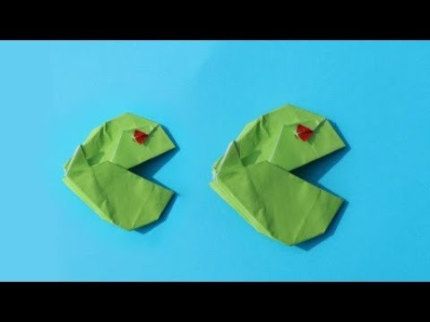 How to make an Origami Pacman in real life | DIY paper crafts | Easy Origami step by step Tutorial